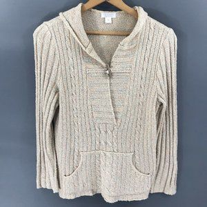 Christopher & Banks Womens Beige Sweater, M